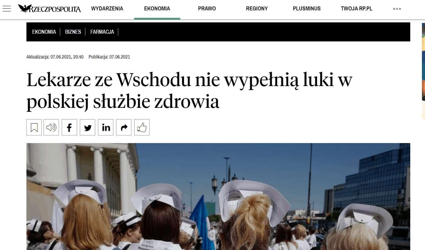 Lekarze ze Wschodu nie wypełnią luki w polskiej służbie zdrowia