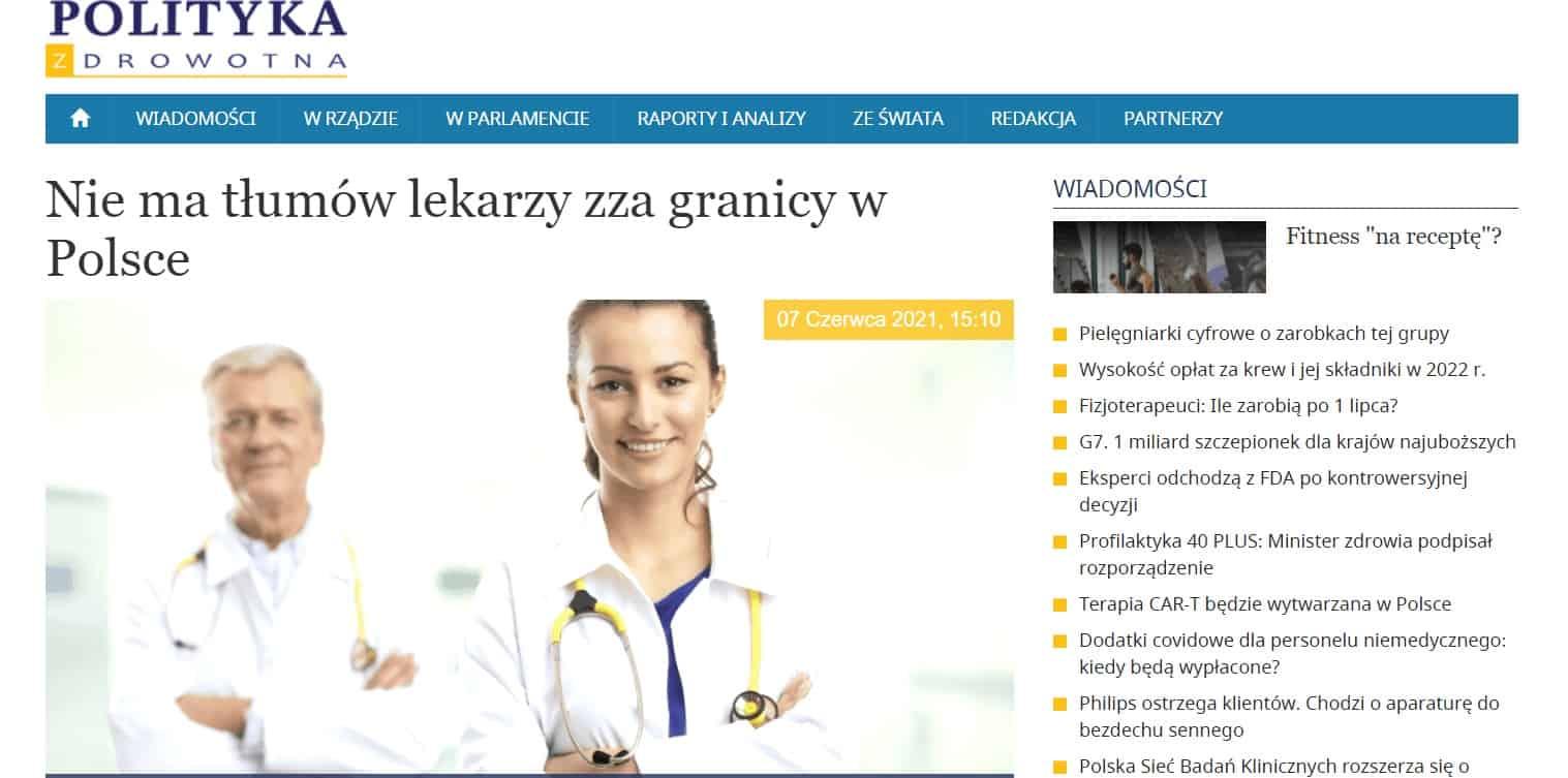 Nie ma tłumów lekarzy zza granicy w Polsce_1