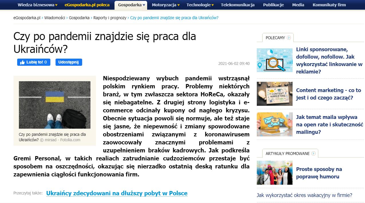 eGospodarka.pl: Czy po pandemii znajdzie się praca dla